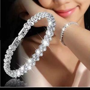 New women bracelet roman style crystal S925